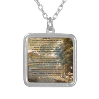 St. Francis of Assisi & The Rainbow Bridge Silver Plated Necklace