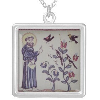 St Francis of Assisi with bird Custom Necklace