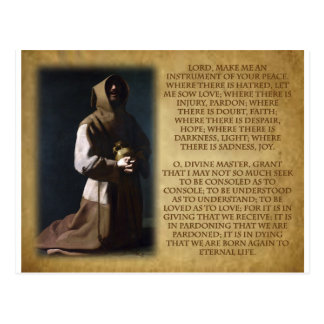 St Francis of Assisi's Prayer Postcard