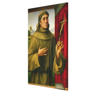 St. Francis of Assissi, c.1490 (tempera on panel) Canvas Prints