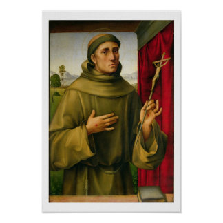 St. Francis of Assissi, c.1490 (tempera on panel) Poster
