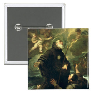 St Francis of Paola, 1416-1507) Pinback Button
