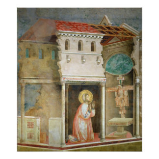 St. Francis Praying in the Church of San Poster