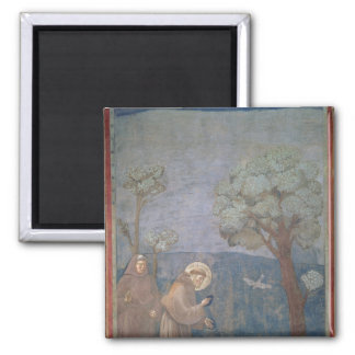 St. Francis Preaching to the Birds, 1297-99 2 Inch Square Magnet
