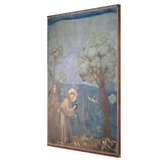 St. Francis Preaching to the Birds, 1297-99 Stretched Canvas Prints