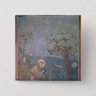 St. Francis Preaching to the Birds, 1297-99 Pinback Button