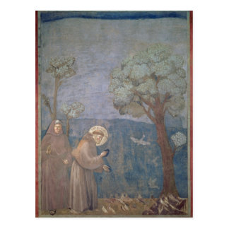 St. Francis Preaching to the Birds, 1297-99 Postcard