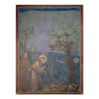 St. Francis Preaching to the Birds, 1297-99 Poster