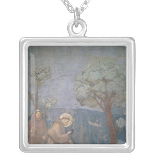 St. Francis Preaching to the Birds, 1297-99 Silver Plated Necklace