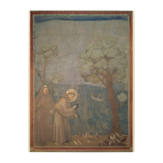 St. Francis Preaching to the Birds, 1297-99 Wood Prints