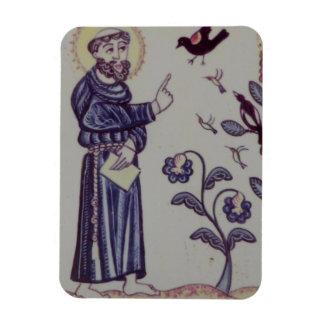 St Francis que habla con el pájaro Imanes Rectangulares
