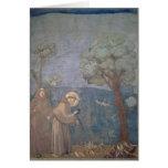 St Francis que predica a los pájaros, 1297-99 Tarjetón