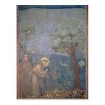 St Francis que predica a los pájaros, 1297-99 Postal