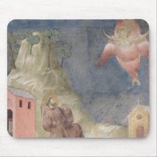 St Francis que recibe los estigmas, 1297-99 Tapete De Raton