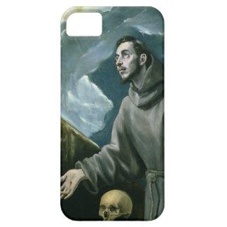 St Francis que recibe los estigmas (aceite en iPhone 5 Fundas
