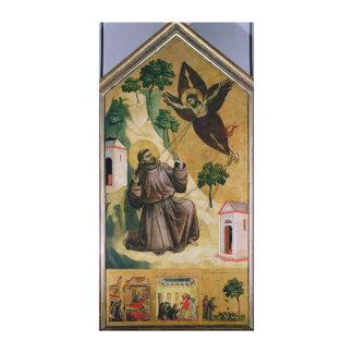 St Francis que recibe los estigmas, c.1295-1300 Impresión En Tela