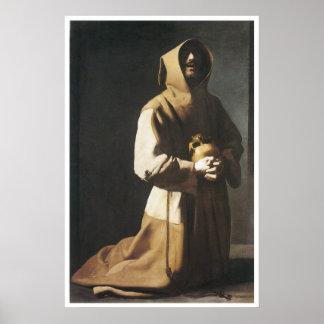 St Francis que se arrodilla, 1635-39 Póster