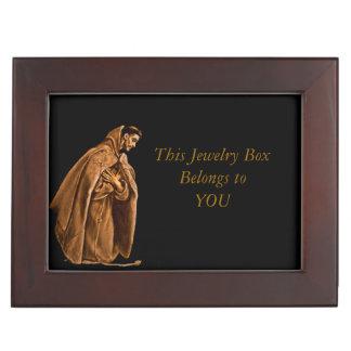 St Francis que se arrodilla en rezo Caja De Recuerdos