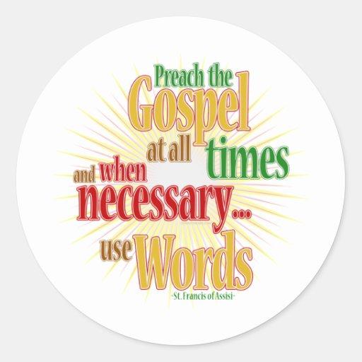 St Francis Quote_1 Etiquetas Redondas
