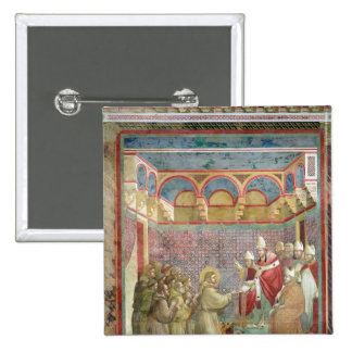 St. Francis Receives Approval 2 Inch Square Button