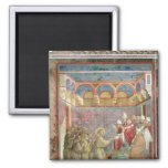 St. Francis Receives Approval 2 Inch Square Magnet