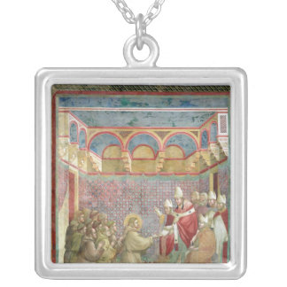 St. Francis Receives Approval Square Pendant Necklace