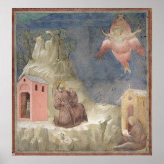 St. Francis Receiving the Stigmata, 1297-99 Poster