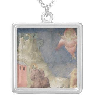 St. Francis Receiving the Stigmata, 1297-99 Square Pendant Necklace
