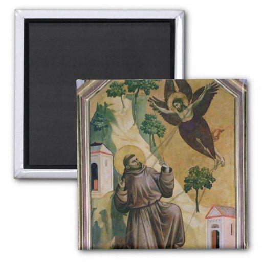 St. Francis Receiving the Stigmata, c.1295-1300 Refrigerator Magnet