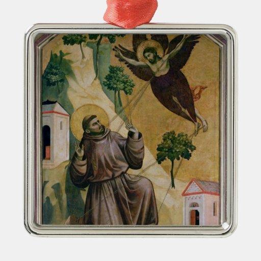 St. Francis Receiving the Stigmata, c.1295-1300 Christmas Ornament