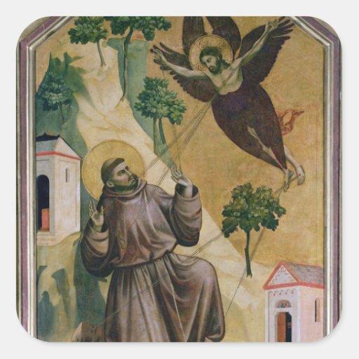 St. Francis Receiving the Stigmata, c.1295-1300 Sticker