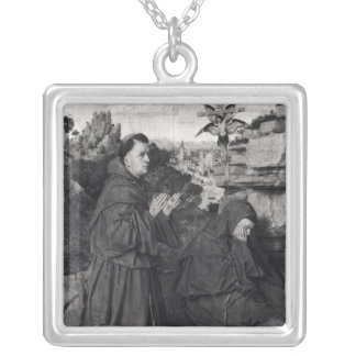 St. Francis Receiving the Stigmata, c.1427 Silver Plated Necklace