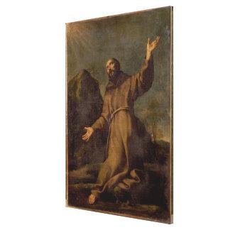 St. Francis Receiving the Stigmata Canvas Print
