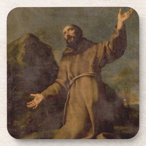 St. Francis Receiving the Stigmata Drink Coasters