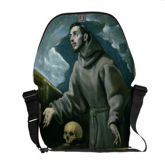 St. Francis Receiving the Stigmata (oil on canvas) Courier Bag