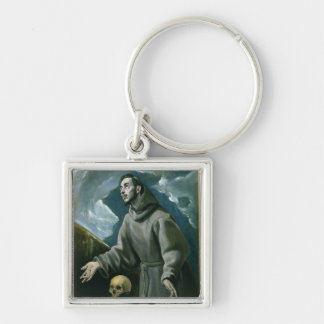 St. Francis Receiving the Stigmata (oil on canvas) Keychain