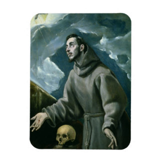 St. Francis Receiving the Stigmata (oil on canvas) Magnet