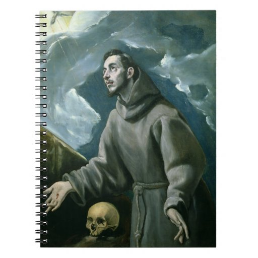 St. Francis Receiving the Stigmata (oil on canvas) Spiral Notebook