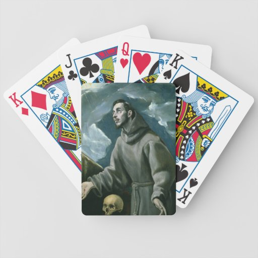 St. Francis Receiving the Stigmata (oil on canvas) Playing Cards