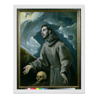 St. Francis Receiving the Stigmata (oil on canvas) Poster