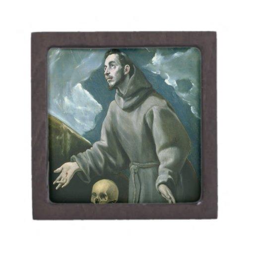 St. Francis Receiving the Stigmata (oil on canvas) Premium Gift Box
