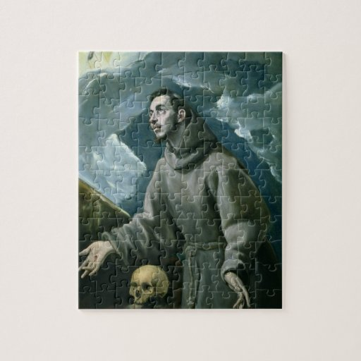 St. Francis Receiving the Stigmata (oil on canvas) Puzzle