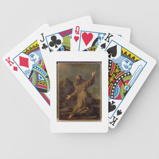 St. Francis Receiving the Stigmata Poker Cards