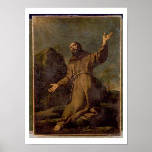 St. Francis Receiving the Stigmata Poster