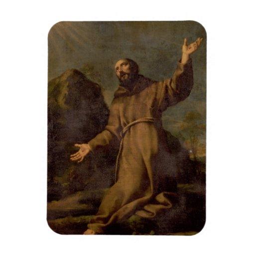 St. Francis Receiving the Stigmata Rectangular Magnet