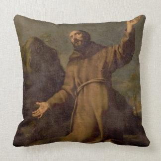 St. Francis Receiving the Stigmata Throw Pillow