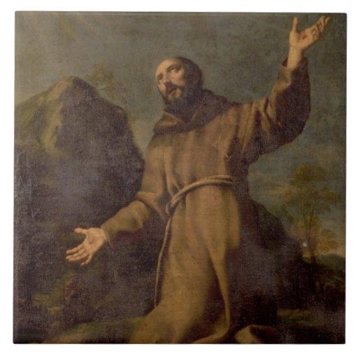 St. Francis Receiving the Stigmata Tile