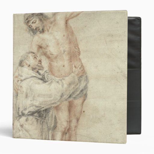 St. Francis Rejecting the World and Embracing 3 Ring Binder