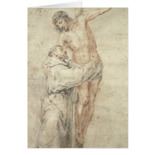 St. Francis Rejecting the World and Embracing Card