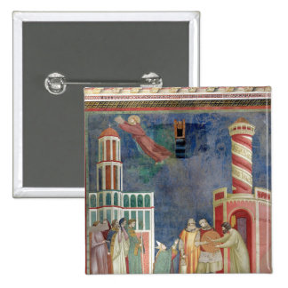 St. Francis Releases the Heretic, 1297-99 2 Inch Square Button